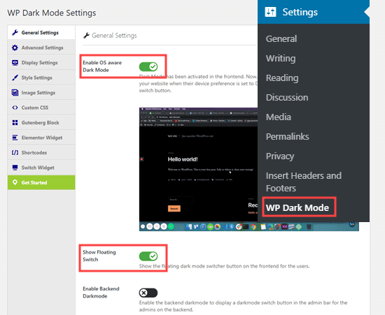 WordPress Dark Mode