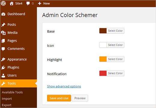 admin color schemer WordPress Admin Themes
