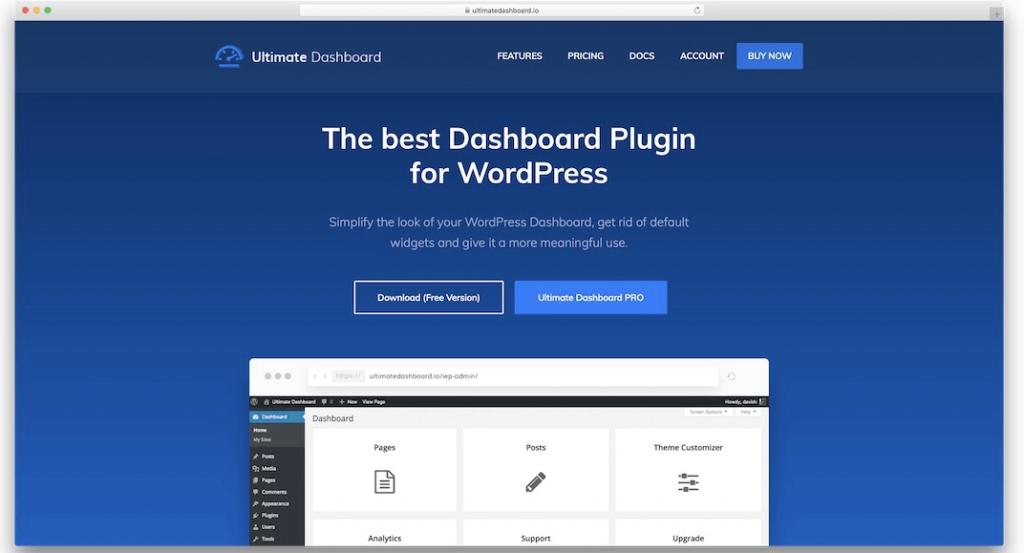 ultimate dashboard WordPress Admin Themes
